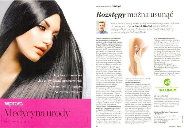 Wywiad w dodatku Medycyna Urody we Wprost
