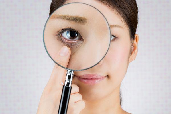 powieki, powiększanie oka