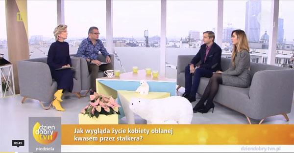 W Dzień Dobry TVN opowiadałem, jak przebiega leczenie blizn u pani Katarzyny Dacyszyn