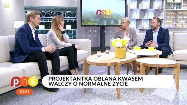 Pani Katrzyna Dacyszyn mimo koszmaru jaki przeżyła, stara się patrzeć na życie optymistycznie