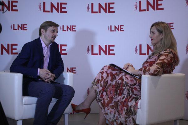 Wywiad dla LNE (fot. Joanna Siemińska)